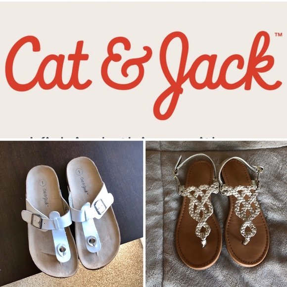 Cat & Jack Other - 2 pairs of Cat & Jack Girls Sandals